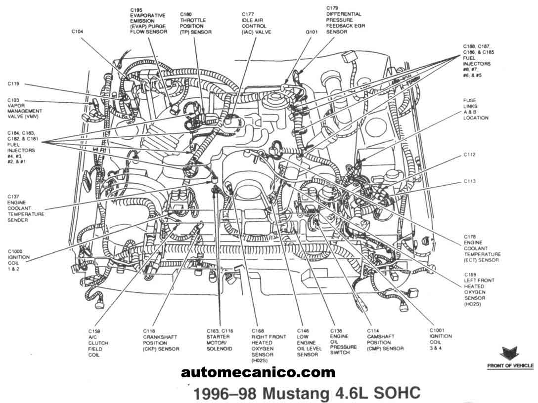 Ford Mercury Sensores 98