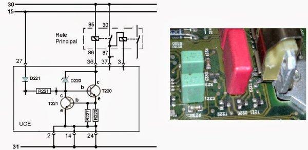 Driver do relê principal sistema de injeção Bosch M1.5.1