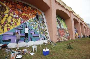 """Como ficarão os Arcos com a """"arte"""" (foto Moacir Lopes Junior/Folhapress)"""