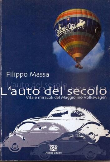 – Capa do livro do Filippo com o grafismo usando o Fusca da propaganda brasileira. O Fusca voando de balão de ar quente existiu e está no AutoMuseum