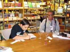 O Diogo Arendt foi o mais ativo em matéria de autógrafos, e o Jorge Rollemberg, autor