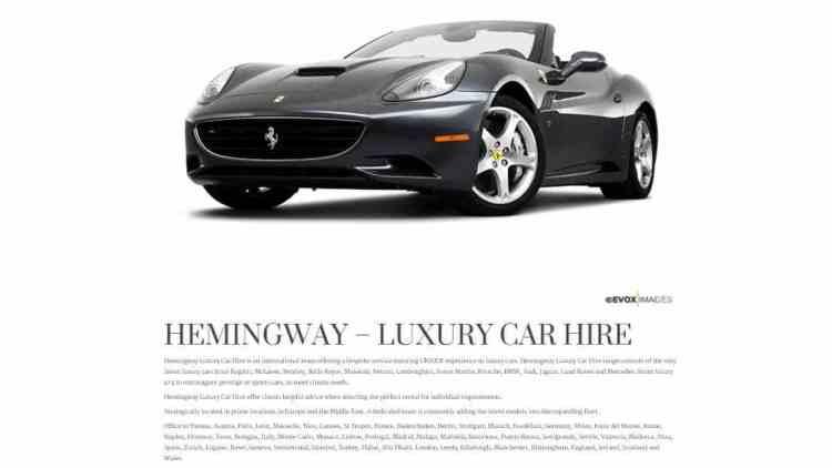 alugar pelo site Hemingway, sem carros como alternativa ao contratado