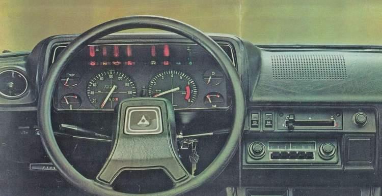 Nesta foto de um Dodge 1500 argentino, os instrumentos iguais aos do GLS brasileiro (Divulgação)