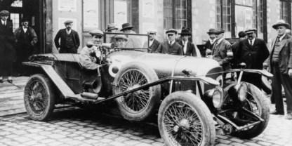 O carro de 1924 em Le Mans com Duff e Clement