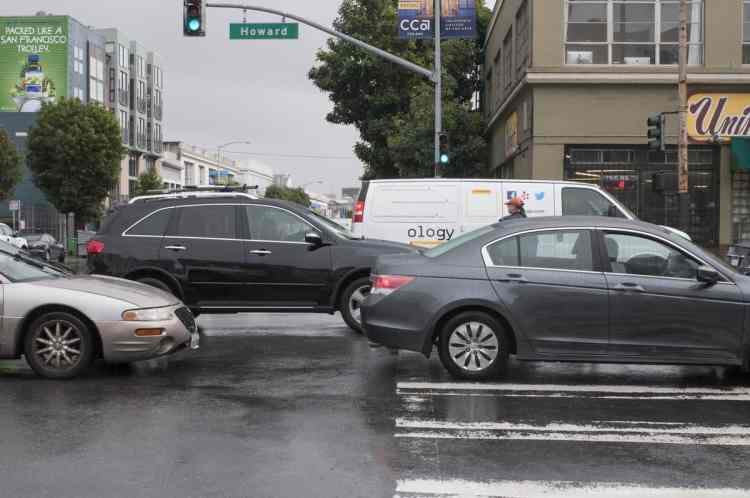 Traffic Blocking Intersection and Crosswalk | October 31, 2014
