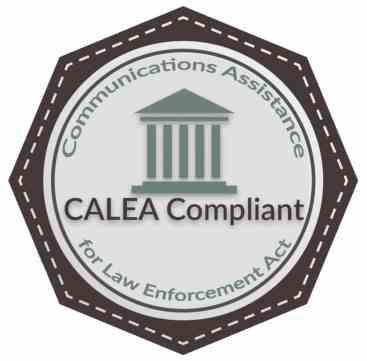 Selo de aprovação de equipamento segundo as normas da CALEA