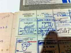 Inspeção de entrega no dia 03/09/1970