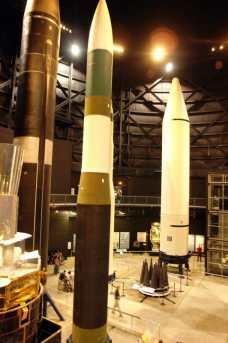 Vista geral da galeria dos mísseis