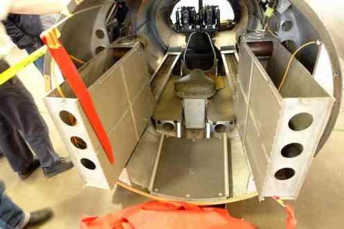 Seção traseira do B-17, posição do artilheiro de cauda