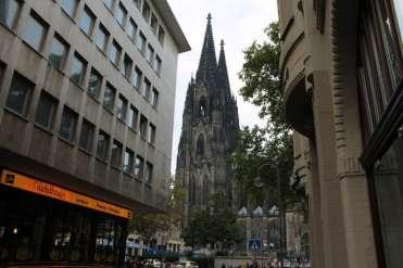 A catedral na paisagem urbana