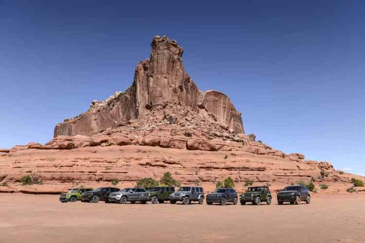 Primeira parada do Test-Drive em Moab: hora de revezar a condução com os colegas jornalistas. Foto: divulgação