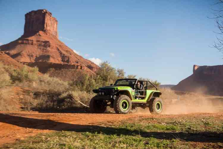 Jeep Trailcat nos caminhos Off-Road ao redor do hotel. Foto: divulgação