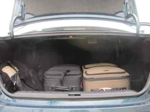 Muito espaço para bagagem