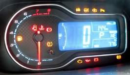 Há luz de aviso de baixa pressão nos pneus