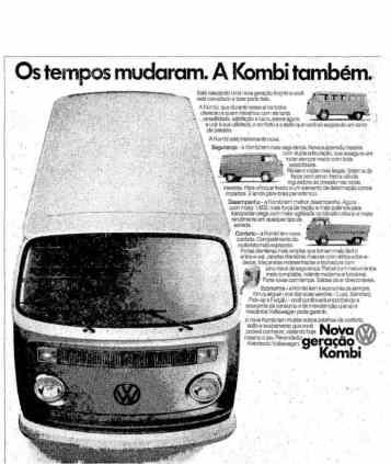 Propaganda publicada o jornal O Globo de 16 de outubro de 1975