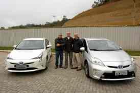 Prius avaliado, com Bob, Juvenal e Ademar, proprietário de um Prius de terceira geração