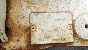 Plaqueta de Identificação com tinta por cima