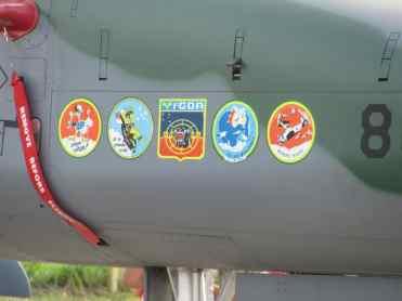 """""""Bolachas"""" dos esquadrões onde o F-5 serviu"""