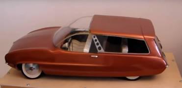 Turbinewagon, seu primeiro modelo, em maquete