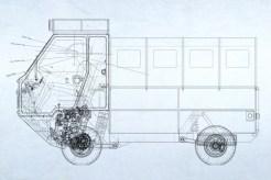Arquitetura geral mostra posição do motor e câmbio, tudo na frente e bem baixo
