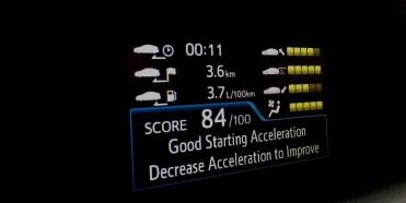 O motorista pode avaliar sua condução do ponto de vista de aproveitamento da energia