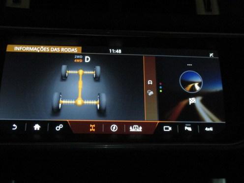 Desmonstrativo do sistema de traçáo inteligente que indica a distribuição de torque