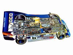 Vista em corte do Porsche 917/30 CanAm Spyder
