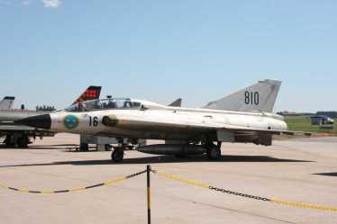 O Swedish Air Force Historic Flight opera dois Drakens ainda hoje. Esta foto foi feita em 2006, pelo nosso editor sueco Hans Jartoft