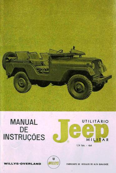 Manual do proprietário do Jeep militar (Foto: arquivo do autor)