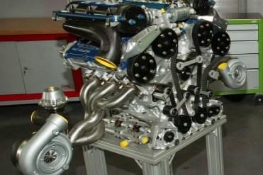 Motor V-6 do Pescarolo-Courage C60 EVO
