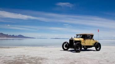 Na planície de Bonneville, em Utah