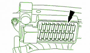 2000 Jaguar XJ8 Right Hand Side Fuse Box DIagram – Auto Fuse Box Diagram