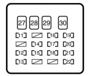 Toyota Yaris mk1 (1999  2005)  fuse box diagram  Auto