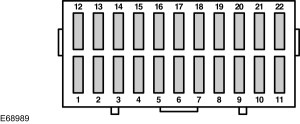 Ford Ka (1996  2007)  fuse box diagram (EU version