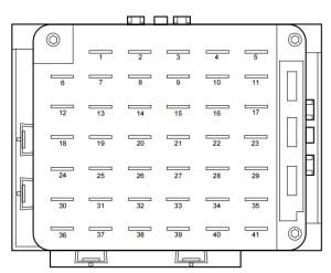 Lincoln Continental mk9 (1999  2002)  fuse box diagram