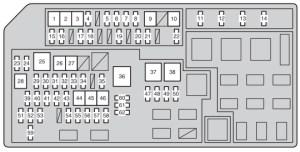 Toyota Land Cruiser 150 (2012)  fuse box diagram  Auto Genius