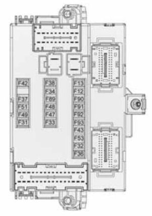 Alfa Romeo Giulietta (2010  2013)  fuse box diagram