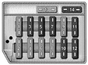 Chrysler Crossfire (2004)  fuse box diagram  Auto Genius