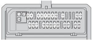 Toyota Corolla (2009  2012)  fuse box diagram  Auto Genius