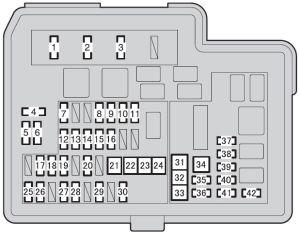 Toyota Prius C (from 2011)  fuse box diagram  Auto Genius