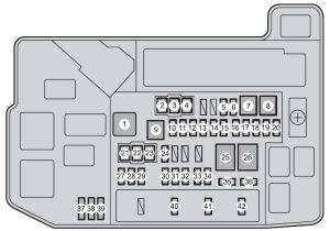 Toyota Prius Plugin Hybrid (2010)  fuse box diagram