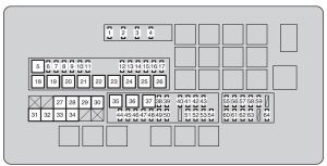Toyota Land Cruiser (2010  2011)  fuse box diagram