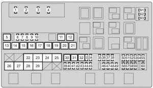 Toyota Land Cruiser (from 2015)  fuse box diagram  Auto Genius