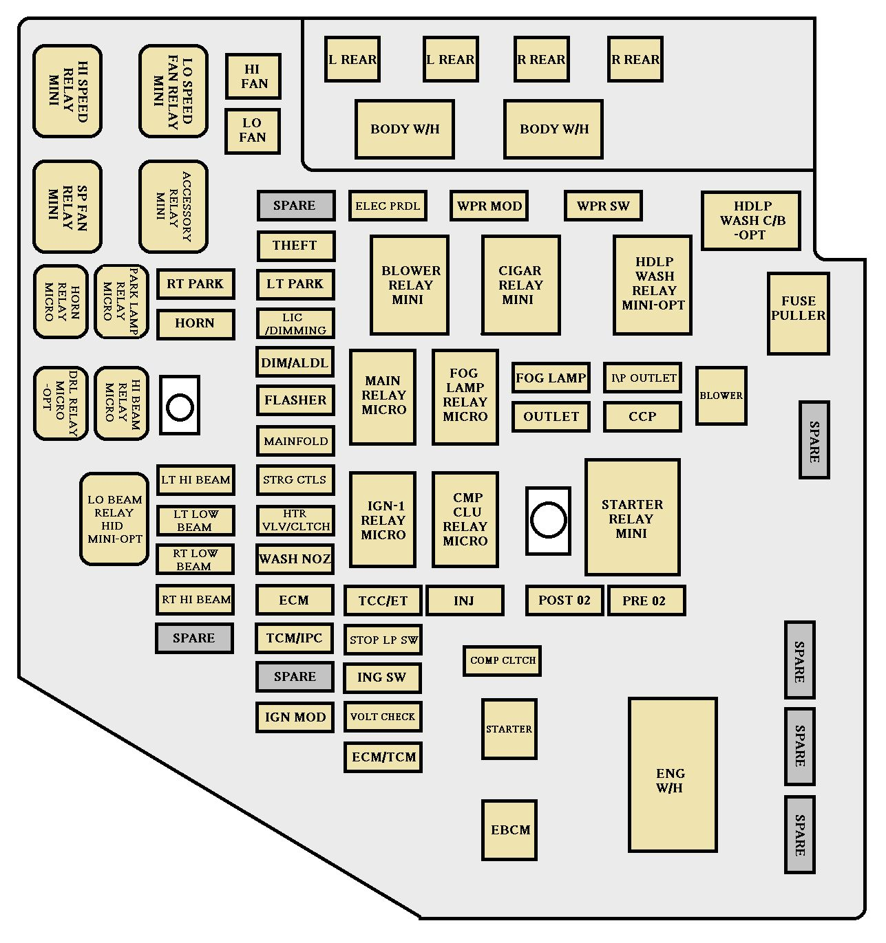 2000 Cadillac Escalade Fuse Box Location Schematics Diagram 2010 Cts 2003 Trusted Wiring Jetta Cigarette Lighter