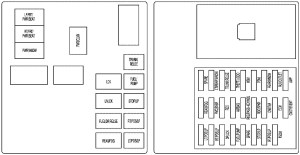 Cadillac CTS (2009)  fuse box diagram  Auto Genius