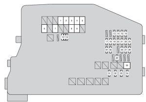 Scion tC (2011 2013)  fuse box diagram  Auto Genius