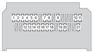 Toyota Yaris Hatchback (2008  2010)  fuse box diagram
