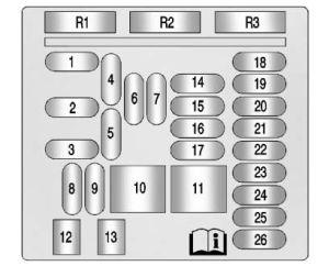 Cadillac XTS (from 2016)  fuse box diagram  Auto Genius