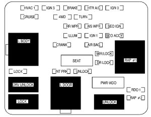GMC Denali (2002)  fuse box diagram  Auto Genius