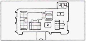Geo Prizm (1990  1995)  fuse box diagram  Auto Genius